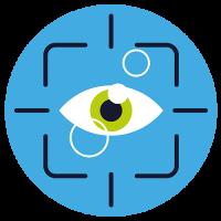 Eye Tracking Icon mit Augen