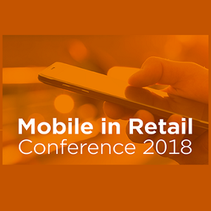 Orange graphic for the Mobile in Retail 2018 Conference