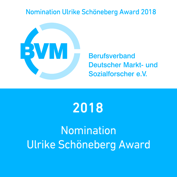 A graphic describing the 2018 Nomination of BVM for the Ulrike Schoneberg Award
